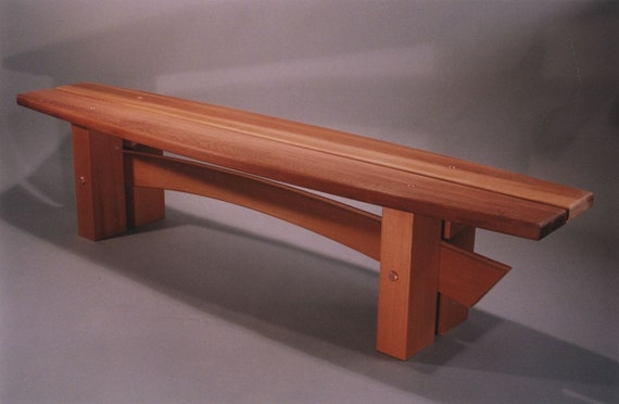 Items Similar To Handcrafted Classically Styled Japanese Garden Or Indoor Wood Bench On Etsy