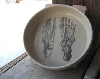 Skeleton Feet bowl