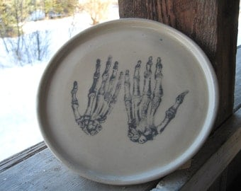 Skeletal Hands plate