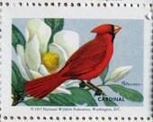 NWF State Bird Series Stamps Sheet No. 1 Cardinal