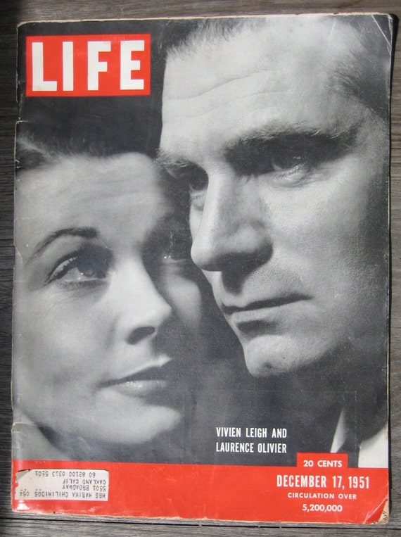 December 17, 1951 LIfe Magazine Vivian Leigh Laurence Olivier