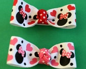 Mickey and Minnie Mouse Hair Bows - Disney Lovers