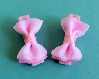 Pink Baby Hair Bows - No Slip Grip