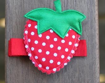 Strawberry Hair Clip - No Slip Grip