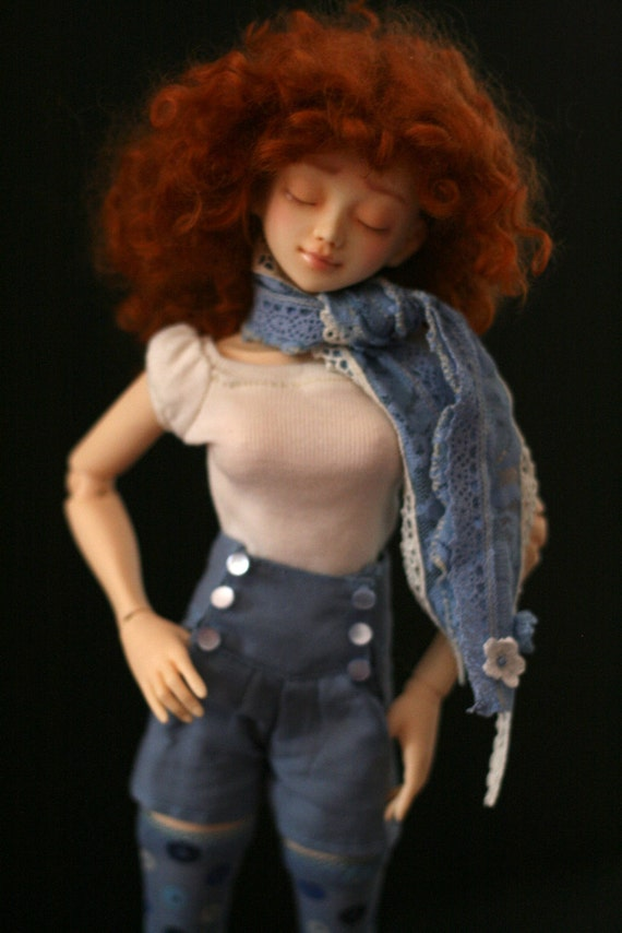 Slim MSD pinup sailor shorts blue
