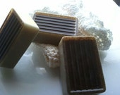 Gardener's Soap LARGE ultra-rich Shea and Cocoa butter goats milk, 6 oz each with Basil EO & Organic Jojoba meal