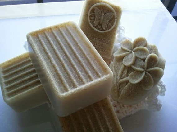 Oatmeal Milk & Honey soap LARGE ultra-rich with shea and cocoa butter goats milk, 6 oz each, pumice, oatmeal, kaolin clay