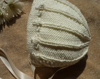 Handknitted Cotton/Kapok Baby Hat/Bonnet