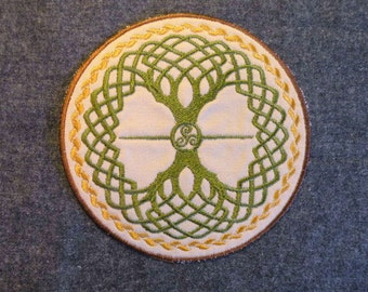 Celtic tree of life iron on patch