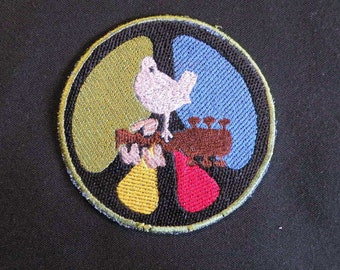 Peace, Love, Rock and Roll Iron on Patch