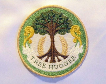 Tree Hugger Iron on Patch 3.75""