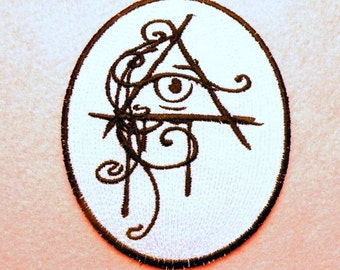"All Seeing Eye Iron on Patch 3.6"" x 4.5"""