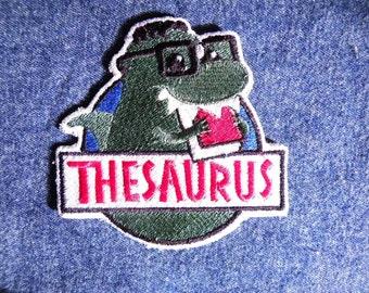 """Thesaurus Iron on Patch 3.75"""" x 3.75"""""""