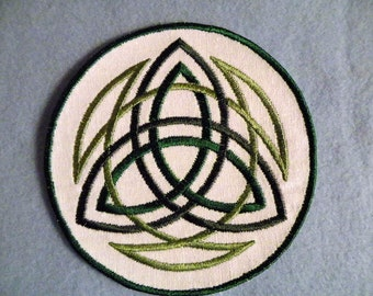 Celtic Trinity Iron on Patch- 4.5 inch