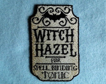 "Apothecary Witch Hazel Iron on Patch 2.5"" x 3.87"""