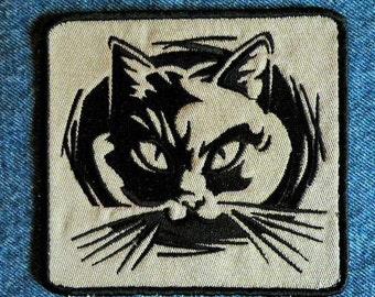 Fierce Feline Iron on Patch