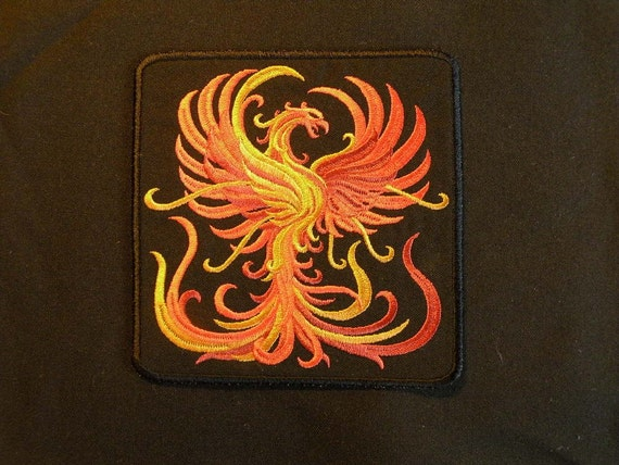 Firey Phoenix Iron on Patch