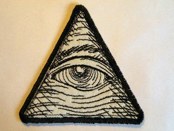 "Eye of Providence Iron on Patch 3.75""."