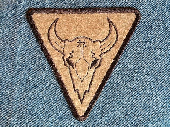 Steer Skull Iron on Patch