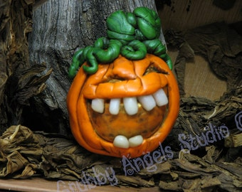Jack-O-Lantern Laughing creepy Halloween Pumpkin
