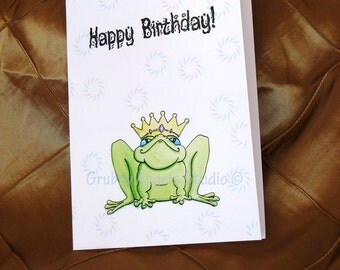 Birthday Card Frog Prince