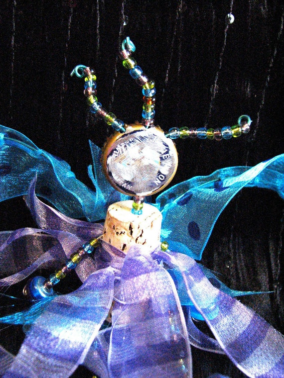 Primitive Cork Art Doll - Winged Cork Fairy
