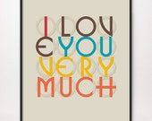 16x20 I Love You Very Much Art Print Corita ILOVEYOUVERYMUCH