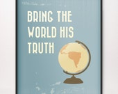 8x10 Bring the World His Truth Art Print LDS Mormon