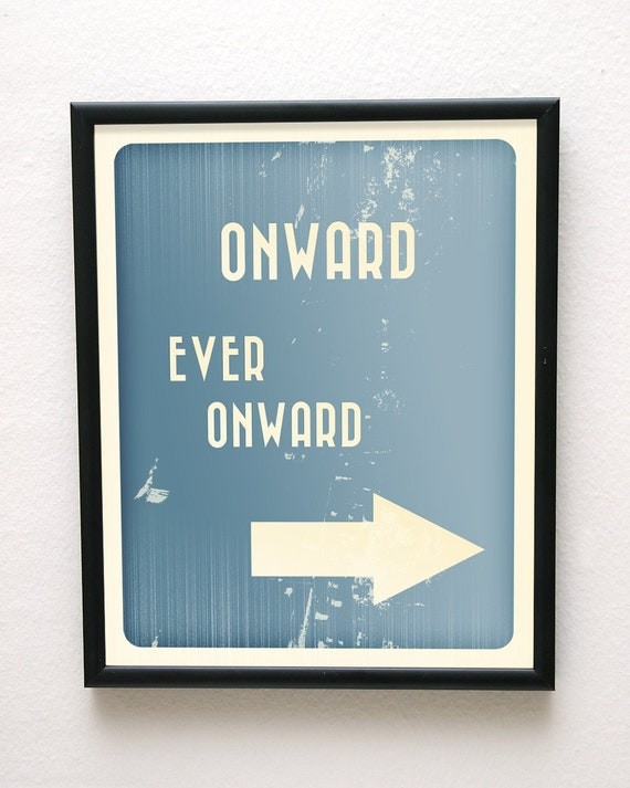 8x10 Onward Ever Onward Giclée Art Print LDS Mormon Blue