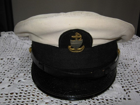 Vintage U S Navy Hat Made By Art Caps Military By Slofabulous