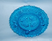 Pressed Glass Cup Plate Westmoreland Motto Comical Wedding Anniversary
