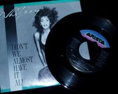 80s Whitney Houston 45 Vinyl Record with  Picture Sleeve