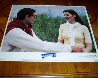 1983 Superman Movie Lobby Card Christopher Reeve Original Theater Poster