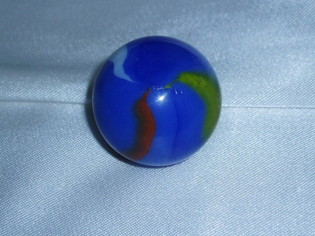 old swirl agate 1 inch shooter glass marble retro game