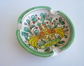 Two Birds of a Feather Mexican Hand Painted Ash Tray