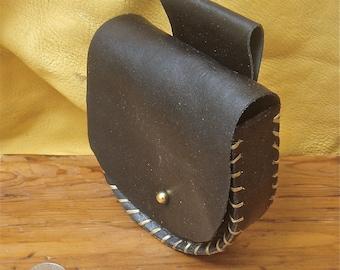 Black Leather belt Pouch