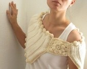 Cream Wool Neckwarmer, Cowl - Ready to Ship