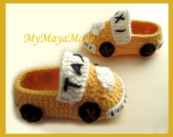 New York Cab Baby Booties - Size from 0-12mos