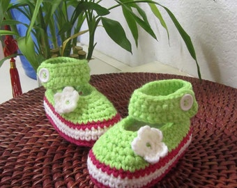 Little Daisy Baby Booties - 6-12 mos - Ready To Ship