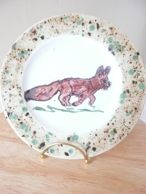 Hand-Painted Fox Plate