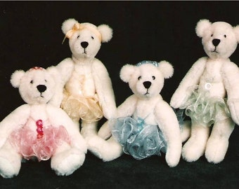 Artist Miniature Teddy Bear PDF Pattern Catherine's Bearlerinas