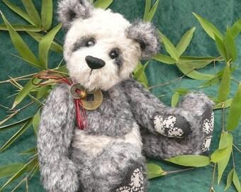 Panda Artist Teddy Bear PDF Sewing Pattern - Hikari