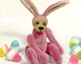 Miniature Teddy Bear Bunny  PDF Sewing Pattern - Clover