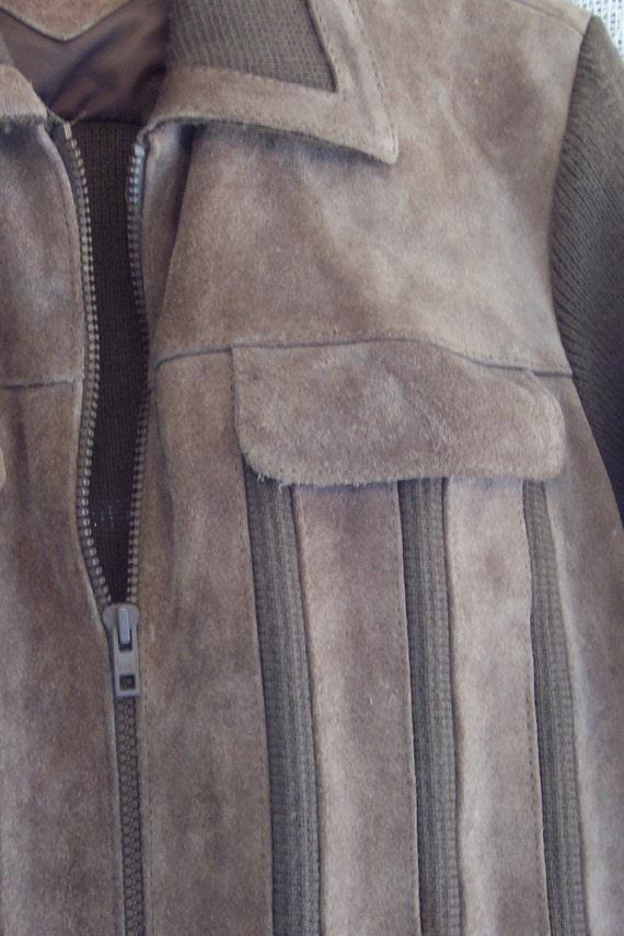 Vintage 70s Suede Sweater Jacket by William John