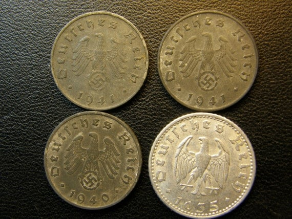 Antique WWII Nazi Germany Coin Collection