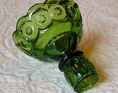 6 Inch Candlestick in Green - Moon & Star