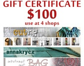 Gift Certificate to use at 4 shops Last Minute Gift Holidays Gift Christmas Gift Home Decor Pillow