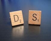 Custom Scrabble® Tile Letter Cufflinks
