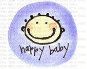Happy Baby - oh baby mini art print