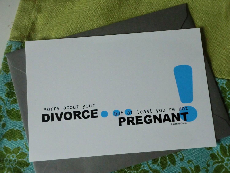 Happy Divorce Cards Divorce Note Card Sorry